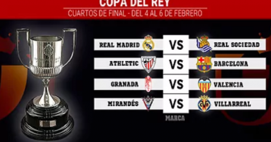 REAL MADRID AND BARCELONA AVOID EACH OTHER IN COPA DEL REY QUARTER-FINAL DRAW.