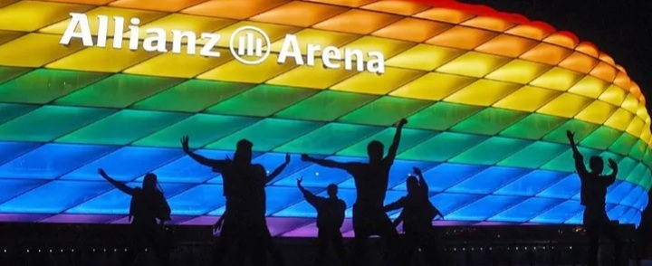 UEFA REJECTS REQUEST TO LIGHT UP ALLIANZ ARENA IN RAINBOW COLOURS FOR EURO 2020 GAME.